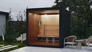modern sauna 3D