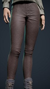 3D Skinny pants