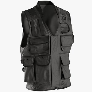 3D vest clothing model