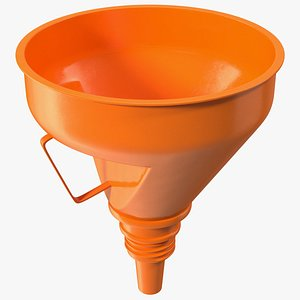 3D Universal Petrol Plastic Funnel with Handle