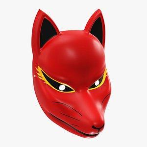 3D japanese mask fox model