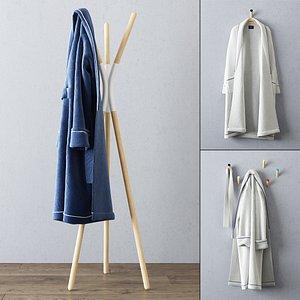 set bathrobes 3d max