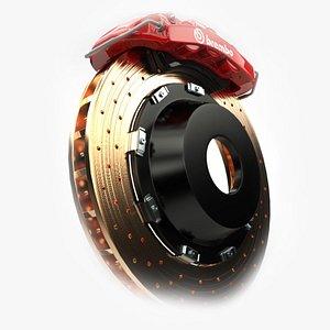3D disc brake sport model