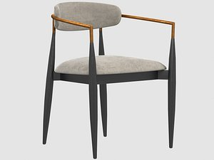 jagger dining arm chair 3D model