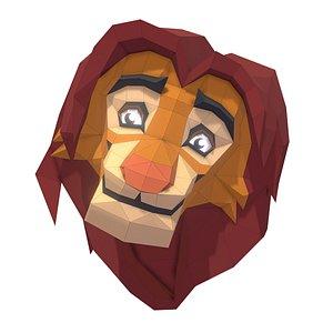 3D trophy lion