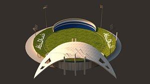 3D Abu Dhabi Cricket Stadium-3DS model
