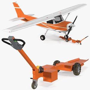 tow tug light aircraft airplane model