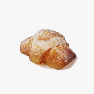 3D croissant food