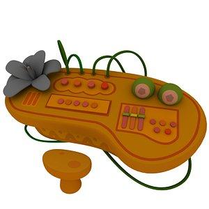 cartoon tropical music table 3D
