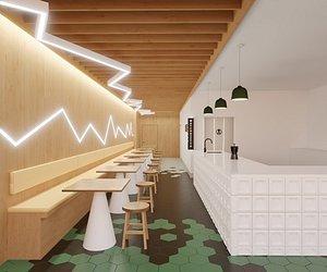 cafe 3D model