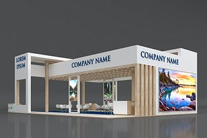5 Exhibition Stand Stall Fair 3D  Model Collection 3D