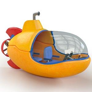 Cartoon Submarine 3D Model model