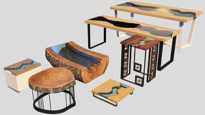 Tables Set 3D model