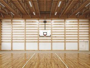 3D Basketball gymnasium