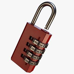 padlock lock pad 3D
