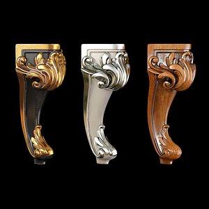 3D model Classic leg 007