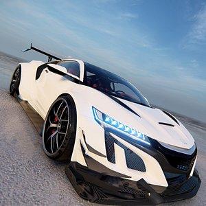 3D Honda NSX Tuning model
