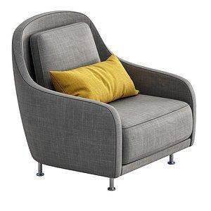armchair audrey 3D model