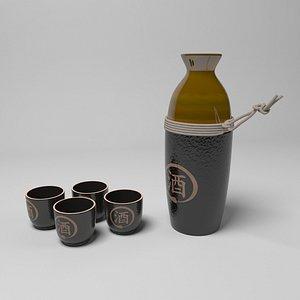 3D sake set