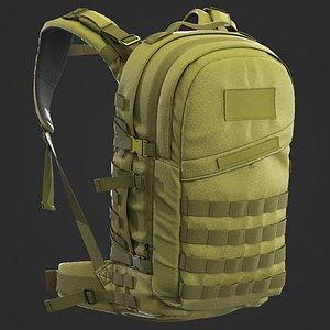 3D Tactical backpack Marvelous Designer
