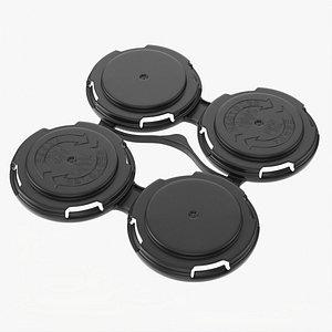 3D model Clip PAK Carrier Handle QuadPak Standard Can