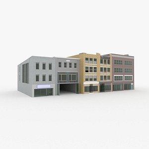 shop fronts 3D model