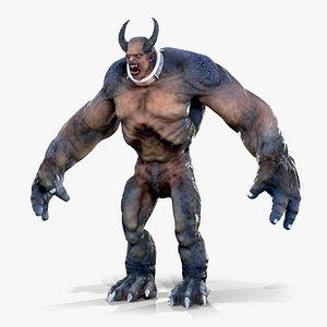 Big Monster with Horns 3D model