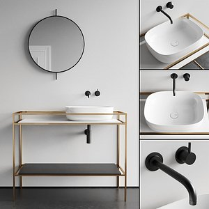 vanity countertop ceramic 3D
