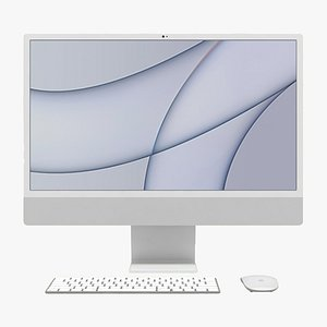 Apple iMac 24 inch 2021 Silver All Set model