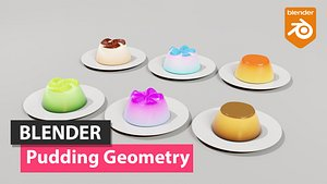 Pudding Geometry Blender 3D model