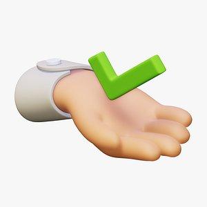 gesture checkmark check 3D model