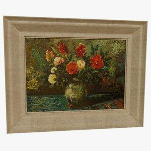 Flowers Oil Painting 3D model