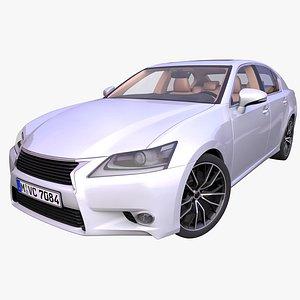 generic japanese sedan interior car 3D model
