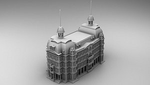 Commercial building in Chicago 3D model