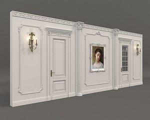 classic wall decoration 3D model
