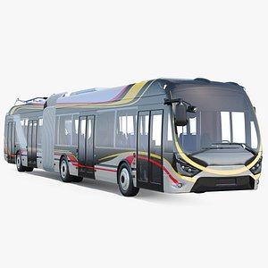 3D electric hybrid trolleybus trolley