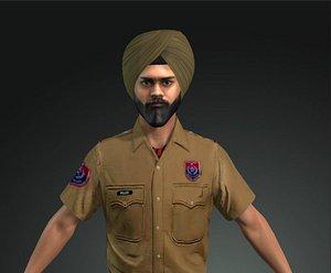 punjab police inspector 3D