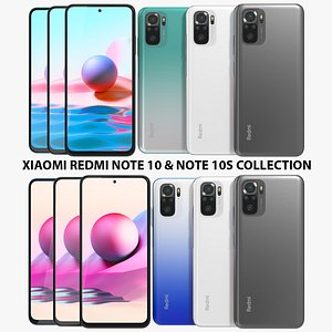Xiaomi Redmi Note 10 and Note 10S Collection 3D model