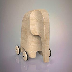 3D model toy elephant