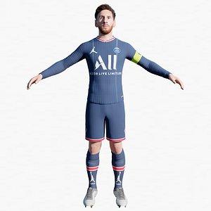 Lionel Messi New Paris Saint-Germain PSG uniform 3d model 3D