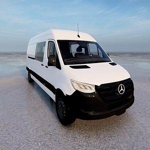 3D model Mercedes Sprinter Van 2019 3D model
