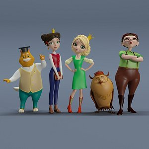 3D heroes princess