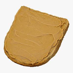 toast peanut butter 01 3D model