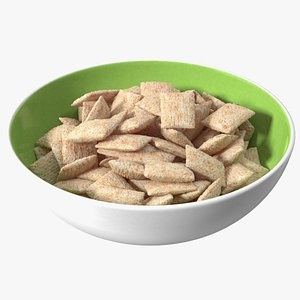 3D Full Bowl of Breakfast Cereal Pads
