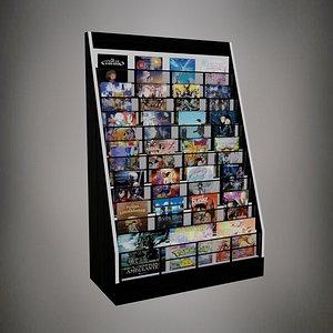 3D Video Rack - Estante de Video - Low poly
