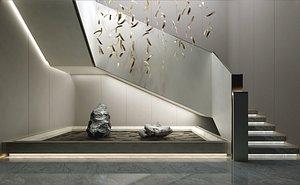 3D stair modern model