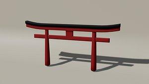 3D Japanese Torii Gate model