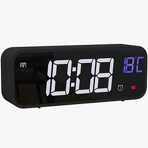 3D alarm clock digital