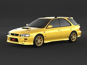 3D model Subaru Impreza Wrx Sti