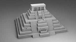 architecture pyramid 3D model